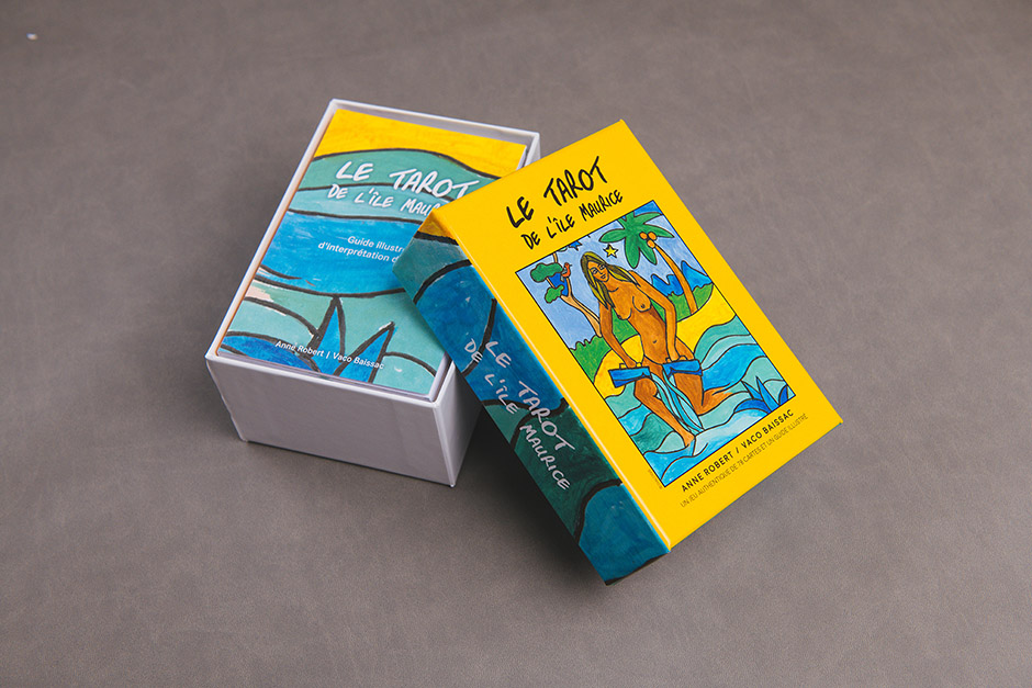 Le Tarot de l'ile Maurice packaging, printed by Précigraph