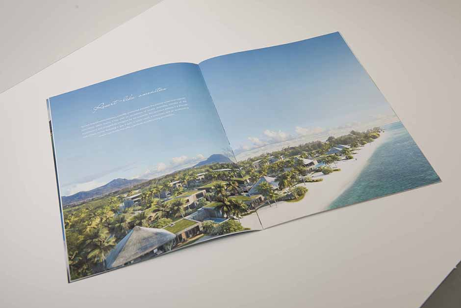 Brochure Asmara Beachfront Residences, impression Précigraph
