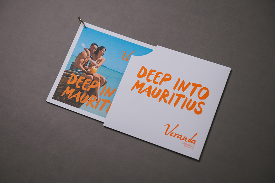 Brochure Deep Into Mauritius, Veranda Resorts, impression Précigraph