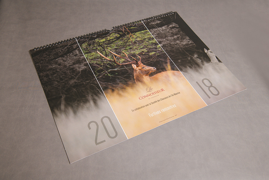 Le Connoisseur by Oxenham wall calendar, printed by Précigraph