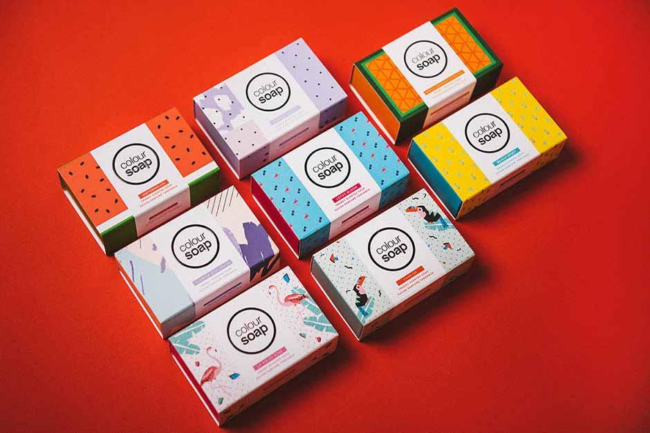 Packaging Colour Soap - Cheekips, impression Précigraph