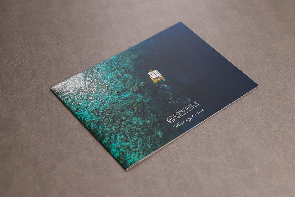 Brochure Constance Hotels & Resorts, Time by Nature, impression Précigraph