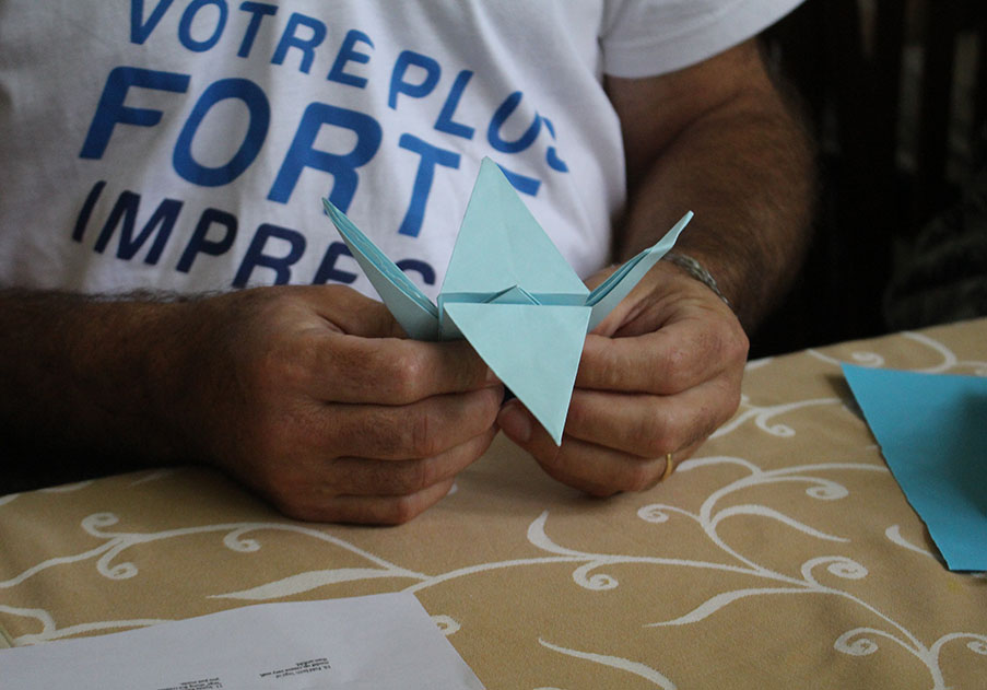 Précigraph, Team - Origami in action!