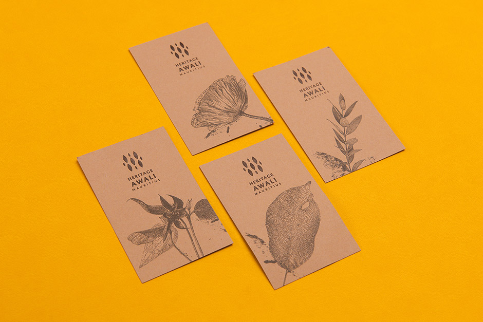 Heritage Awali business cards, printed by Précigraph