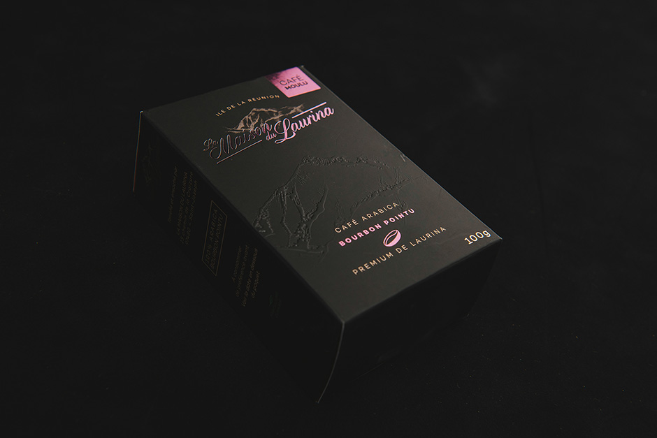 La Maison du Laurina packaging, printed by Précigraph