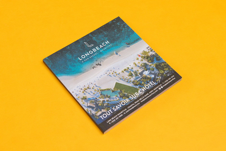 Brochure Long Beach Resorts Mauritius Sun Resorts, impression Précigraph