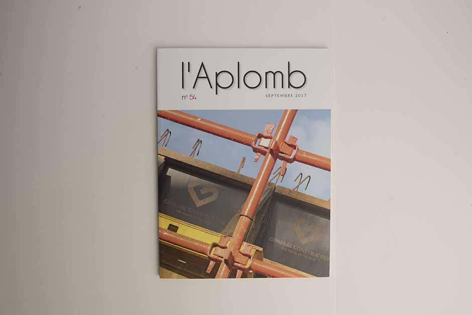 L'Aplomb magazine, General Construction, printed by Précigraph