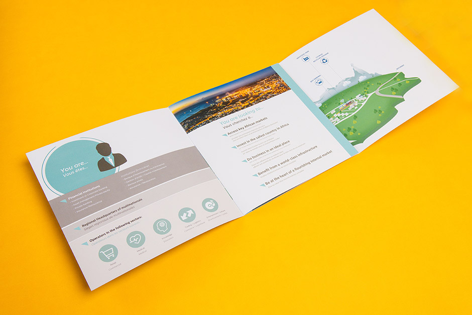Moka Smart City brochure, ENL Property, printed by Précigraph