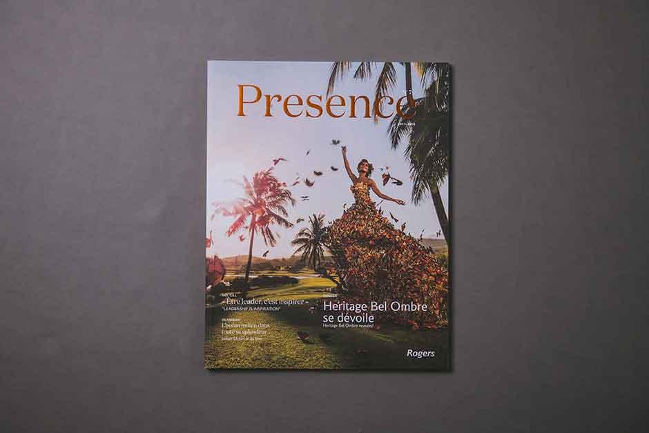 Brochure Presence Rogers, impression PrécigraphPresence brochure, Rogers, printed by Précigraph