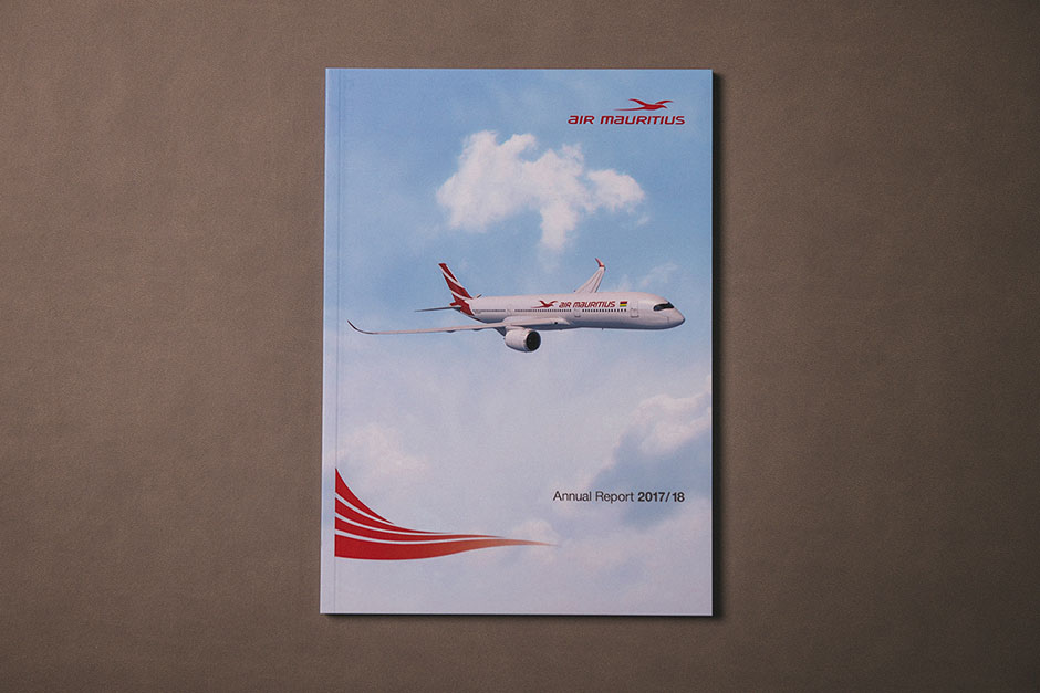 Air Mauritius Annual Report designed & printed by Précigraph